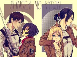 Shingeki no Kyojin couple by Purple-Meow
