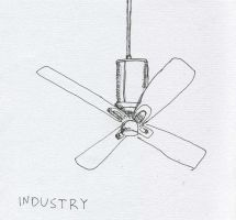 Ceiling Fan No. 4 by RoseSelavy
