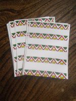 Aztec pattern postcards by andrea-gould