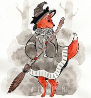 fox witch by a-lonely-me