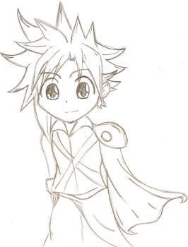 Chibi Cloud by thewolfdrawer