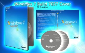 Windows 7 7057 DVD Cover by janek2012