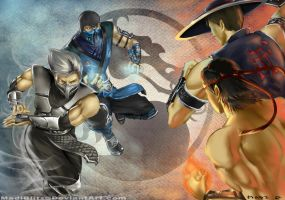 .Lin Kuei VS. Shaolin. by MadiBlitz