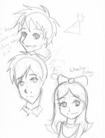 Phineas and Ferb Sketches 1 by Catgirlemi7