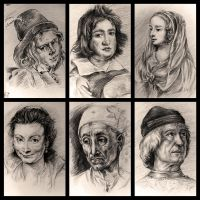 Drawing study from old master since 2003 #2 by Pearlpencil