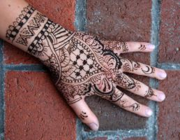 my first attempt at henna! by studioexperiment