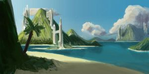 Island concept painting by externible