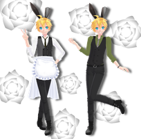 Tda Bunny Waiter Len [Download Down] by xXMofuMofuXx