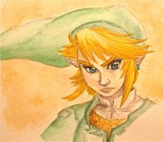 Link - Watercolor by Trista-Willows