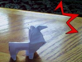 Origami Llama by voyager9600