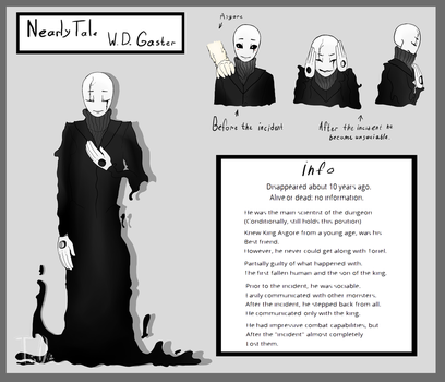 W.D. Gaster from my AU by Tsebary