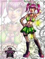 Raver Pinup Girl by lady-cybercat