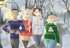 Holiday Sweaters by maybelletea