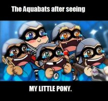 Aquabats and My Little Pony (Anime Face) by Mojo1985