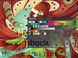 Candy background with Santa girl swatches by AnnArtshock