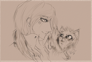 Nalu and Whiskey: art trade by Sui-Sui