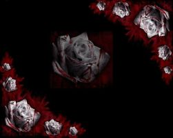 gothy blood roses by KynxxsKitty