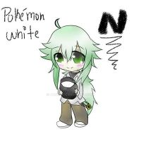 Pokemon White - N chibi by Eluvhian