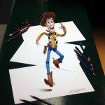 Woddy Anamorphic Pencil Drawing by AtomiccircuS