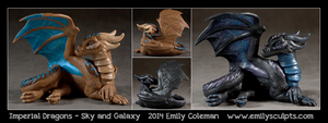 SkyAnd Galaxy Imperial Dragons by emilySculpts