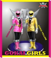 gokai girls by super-frankie8