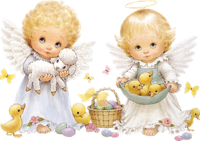 Cute Easter Angels Clipart by joeatta78