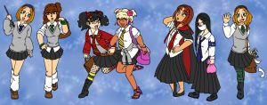 Hogwarts School Gals by MuseWhimsy
