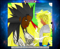 Deesse Shinsei et Vincent SSJ4 Gold by VMJML1er