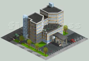 isometric hospital by KaMiWorkshop