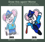 Draw this again! Meme (Mappy Mouse) by EllieMcDoodler