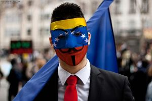 Anonymous Venezuela Mask Front 2 by paundpro