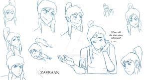 Korra sketches by zavraan