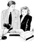Mulder and Scully by ObsidianSerpent