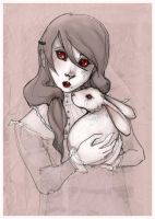 girl and rabbit by lupidog