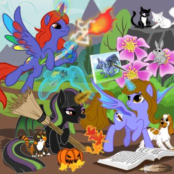 MLPFIM Friends and me by Dragonauroralight