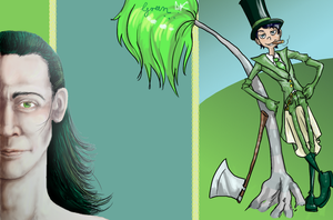 Green tumblr layout by StripedSmoker