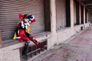 DCUO Harley Quinn - The look out by Enasni-V