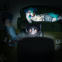 Sleepover by Anchoring-Dreams