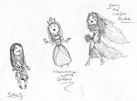 Tim Burton Ladies - Adventure Time Style by silverwing66