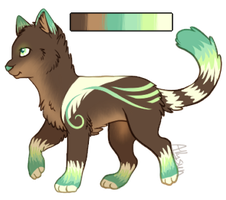 Mint Kittie Adopt {Open! - 1 point/.1 Auction} by Allysuns-Adoptables