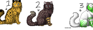 1 and 2 point cat adoptables by Shadowpaw909