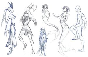 Life Sketches 1 by mollyinmeguro