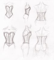 Corset Sketches by CrystalGears