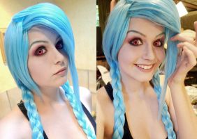 Jinx Makeup Test. by Kinpatsu-Cosplay