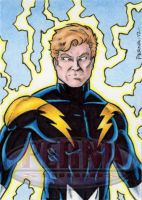Lightning Lad Sketch Card by tonyperna
