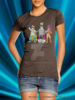 The New Justice Team - Shirt - Female by teebuster