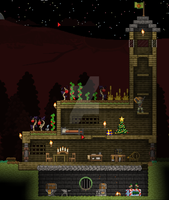 Starbound house by Angry-Popcorn