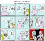 Mewtwo VS Arceus Comic by Wuddupz