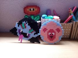 Marcy and Lion hama #16 by isaletheia