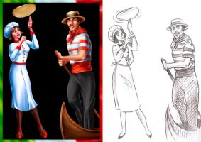 Italian characters by artforgame